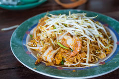 Thai food, Pad thai Shrimp Stock Photo