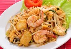 Thai food, Pad thai Shrimp Royalty Free Stock Image