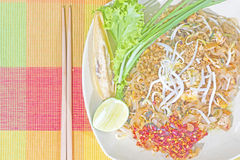 Thai food, Pad thai Shrimp, Thai style noodles Royalty Free Stock Photos