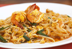 Thai food Pad thai , Stir fry noodles Royalty Free Stock Image