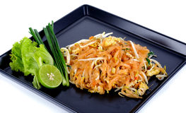 Thai food Pad thai , Stir fry noodles isolated Stock Photography