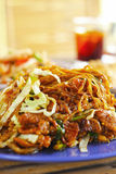 Thai food Pad thai, Stir fry noodles with pork. Royalty Free Stock Photography