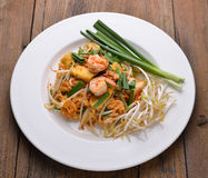 Thai food Pad thai , Stir fry noodles Royalty Free Stock Images