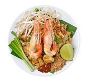 Thai food Pad thai. Stir fry noodles with shrimp Stock Photo