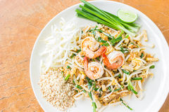 Thai food Pad thai , Stir fry noodles stock photography