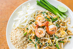 Thai food Pad thai , Stir fry noodles Royalty Free Stock Images