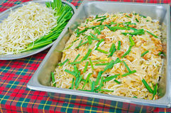Thai food Pad thai , Stir fry noodles with shrimp and omelet Stock Photography