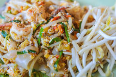 Thai food Pad thai , Stir fry noodles with shrimp in padthai sty Royalty Free Stock Image