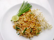 Thai food Pad thai , Stir fry noodles with tofu in padthai style. The one of Thailands national main dish. Stock Photos