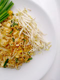 Thai food Pad thai , Stir fry noodles with tofu in padthai style. The one of Thailands national main dish. Royalty Free Stock Photography