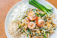 Thai Food Pad Thai , Stir Fry Noodles With Shrimp Stock Image