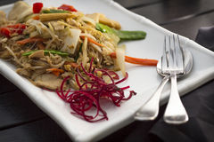 Thai Food Pad Woon Sen Royalty Free Stock Image