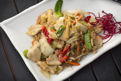 Thai Food Pad Woon Sen Stock Photography