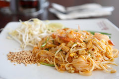 Thai food padthai fried noodle with shrimp Stock Photography