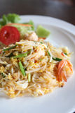 Thai food padthai fried noodle with shrimp Royalty Free Stock Images
