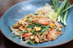 Thai food padthai fried noodle Stock Photography