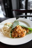 Thai food padthai fried noodle with shrimp Royalty Free Stock Photography