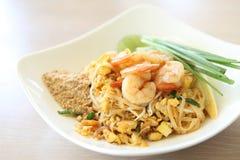 Thai food padthai fried noodle with shrimp Stock Images