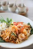 Thai food padthai fried noodle with shrimp , local food. Thai food padthai fried noodle with shrimp stock photos
