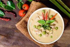 Thai food Panaeng curry,red curry with pork Stock Photos