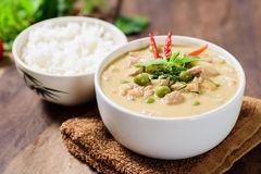 Thai food Panaeng curry,red curry with pork Stock Photo