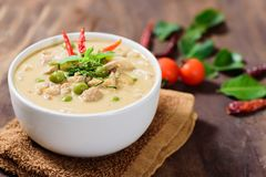 Thai food Panaeng curry,red curry with pork Stock Photography