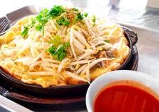 Thai food, pancake with mussel Royalty Free Stock Image
