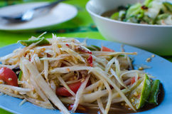 Thai food papaya salad.  royalty free stock photography