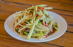 Thai food papaya salad.  royalty free stock photo