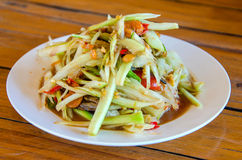 Thai food papaya salad.  royalty free stock photos