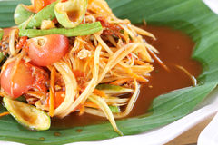 Thai food Papaya Salad Stock Photos