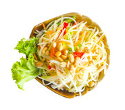 Thai food. Papaya salad or Som Tam isolated. Thai food. Papaya salad or Som Tam isolated on white background. This has clipping path royalty free stock photos