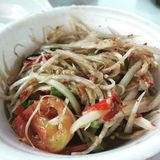 Thai food papaya salad Stock Image