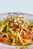 Thai food papaya salad Royalty Free Stock Images