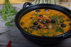 Thai food: Piper sarmentosum leaves Curry Stock Photos