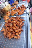 Thai food, pork and chicken fritters for sale Royalty Free Stock Image