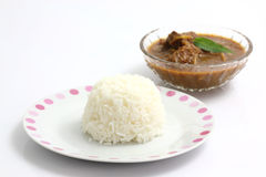 Thai food pork curry with rice Royalty Free Stock Photography