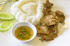 Thai food, pork fried Royalty Free Stock Photo