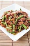 Thai food,Pork fried lentils Stock Photo