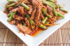 Thai food,Pork fried lentils Royalty Free Stock Photography
