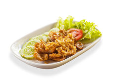 Thai food, Pork with garlic Stock Photography