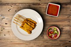 Thai food, pork, meat, thai local pork grilled serve with sauce stock photography