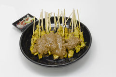 Thai food pork satay isolate on white background Stock Photography