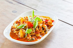 Thai food, Pork, Spicy Boar mixed with spices Stock Photography