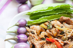 Thai food, Pork, Spicy Boar Royalty Free Stock Photography