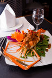Thai food prawns stir fried with spicy sauce Royalty Free Stock Photography