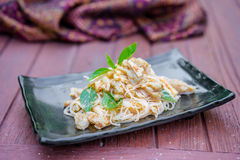Thai food red chicken curry Stock Photos