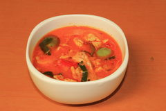 Thai Food Red Curry Chicken Royalty Free Stock Image