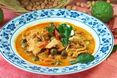 Thai food red curry panang Royalty Free Stock Photos