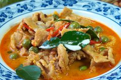 Thai food red Curry Royalty Free Stock Photography